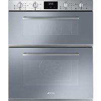 SMEG DUSF400S Electric Double Oven - Silver, Silver