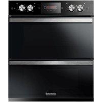 BAUMATIC BODM754B Electric Double Oven - Black, Black