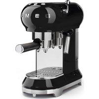 SMEG ECF01BLUK Coffee Machine - Black, Black