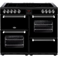 Click to view product details and reviews for Belling Kensington 100e Electric Ceramic Range Cooker Black Chrome Black.