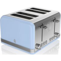 Buy SWAN Retro ST19020BLN 4-Slice Toaster - Blue, Blue - Currys PC World