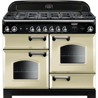 Rangemaster Classic 110 cm Gas Range Cooker - Cream and Chrome, Cream