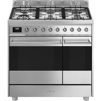 SMEG C92GPX9 90 cm Dual Fuel Range Cooker - Stainless Steel, Stainless Steel