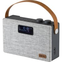 AKAI A61029 Portable DABﱓ Bluetooth Radio - Grey, Grey
