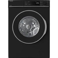 SHARP ES-NFB8141BD 8 kg 1330 Spin Washing Machine - Black, Black.