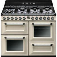 SMEG TR4110P1 Dual Fuel Range Cooker - Cream & Black, Cream