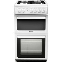 HOTPOINT HAG51P Gas Cooker - White, White