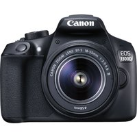 CANON EOS 1300D DSLR Camera with 18-55 mm f/3.5-f/5.6 Zoom Lens - Black, Black