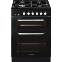 BAUMATIC BCG625BL Gas Cooker - Black, Black