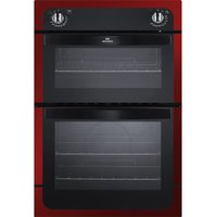 NEW WORLD NW901DO Electric Double Oven - Black & Red, Black