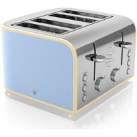Buy SWAN Retro ST17010BLN 4-Slice Toaster - Blue, Blue - Currys PC World