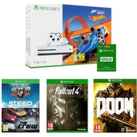 MICROSOFT Xbox One S, Games & Xbox LIVE Membership Bundle