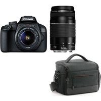 CANON EOS 4000D DSLR Camera, EF-S 15-88 mm f/3.5-5.6, EF 75-300 mm f/4-5.6 & Bag Bundle