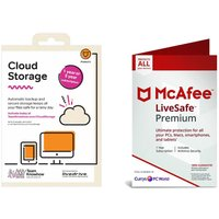 McAfee LiveSafe Premium (1 year, unlimited devices) & Team KnowHow Cloud Storage (1 year, 2 TB) Bundle