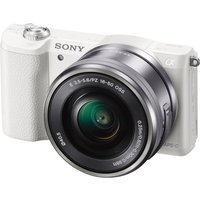 SONY a5100 Mirrorless Camera with 16-50 mm f/3.5-5.6 Lens - White, White
