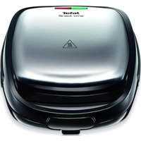TEFAL Snack Time SW341D40 Sandwich and Waffle Maker - Stainless Steel & Black, Stainless Steel