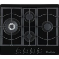 RUSSELL HOBBS RH60GH403DS Midnight Collection Gas Hob - Black, Black