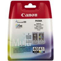 CANON PG-40/CL-41 Black & Colour Ink Cartridge - Multipack, Black