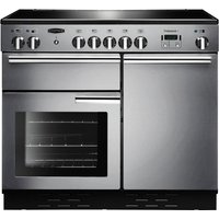 RANGEMASTER Professional 100 Electric Induction Range Cooker - Stainless Steel and Chrome, Stainless Steel