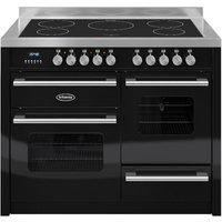BRITANNIA Delphi 110 RC11XGIDEK Electric Induction Range Cooker - Gloss Black & Stainless Steel, Stainless Steel