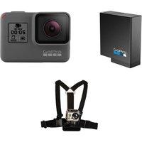 Gopro HERO5 4K Ultra HD Action Camcorder, Harness & Battery Bundle