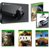MICROSOFT Xbox One X & Games Bundle