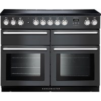 RANGEMASTER Nexus SE NEXSE110EISL/C 110 cm Electric Induction Range Cooker - Slate and Chrome, Chocolate
