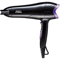NICKY CLARKE Frizz Control NHD177 Hair Dryer - Black & Purple, Black