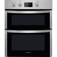 INDESIT Aria DDU 5340 C IX Electric Double Oven - Stainless Steel, Stainless Steel