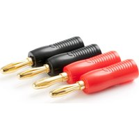 TECHLINK 710973 Banana Plugs - Pack of 4