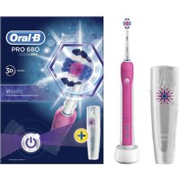 ORAL B 3D White Electric Toothbrush - Pink, White