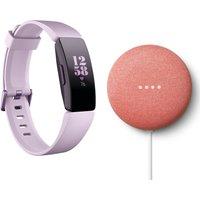 FITBIT Inspire HR Fitness Tracker & Nest Mini Bundle