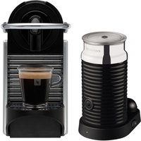 NESPRESSO 11323 Nespresso Pixie Coffee Machine & Aeroccino - Aluminium