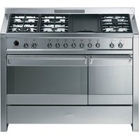 SMEG Opera 120 Dual Fuel Range Cooker - Stainless Steel, Stainless Steel