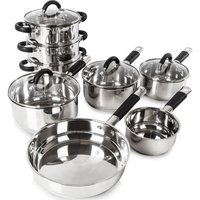 TOWER Essentials T80834 8-piece Pan Set - Stainless Steel, Stainless Steel