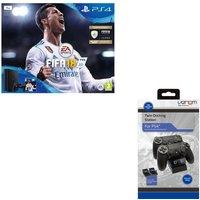 SONY PlayStation 4 Slim, FIFA 18 & Twin Docking Station Bundle