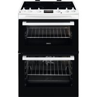 ZANUSSI ZCV66250WA 60 cm Electric Cooker - Black and White, Black