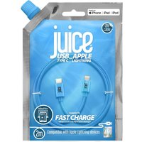 JUICE USB Type-C to Lightning Cable - 2 m, Blue, Blue