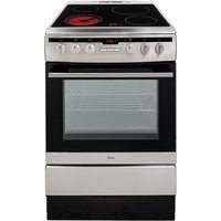 AMICA 608CE2TAXX 60 cm Electric Ceramic Cooker - Stainless Steel, Stainless Steel