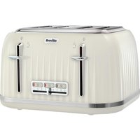 Buy BREVILLE Impressions VTT702 4-Slice Toaster - Vanilla Cream, Cream - Currys PC World
