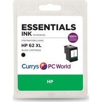 ESSENTIALS 62 XL Black HP Ink Cartridge, Black
