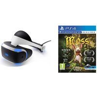 SONY PlayStation VR Starter Pack & Moss PS VR Bundle, White
