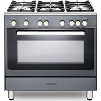 KENWOOD CK307G SL 90 cm Gas Range Cooker - Grey and Chrome, Grey