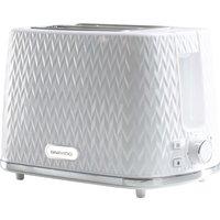 DAEWOO Argyle Collection SDA1781 2-Slice Toaster - White, White