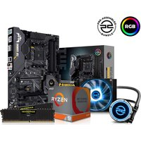 PC SPECIALIST AMD Ryzen 9 XT Processor, TUF GAMING Motherboard, 16 GB RAM & FrostFlow Liquid Cooler Components Bundle