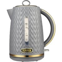 TOWER Empire Collection T10052GRY Jug Kettle - Textured Grey, Grey.