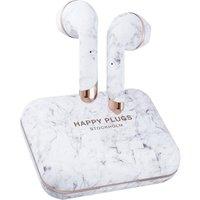 HAPPY PLUGS Air 1 Plus Wireless Bluetooth Earphones - White Marble, White