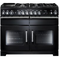 Rangemaster Excel 110 Dual Fuel Range Cooker - Black, Black