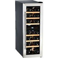 HUSKY HUS-CN215 Wine Cooler - Black & Silver, Black