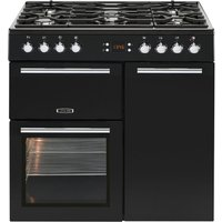 LEISURE AL90F230K Dual Fuel Range Cooker - Black, Black